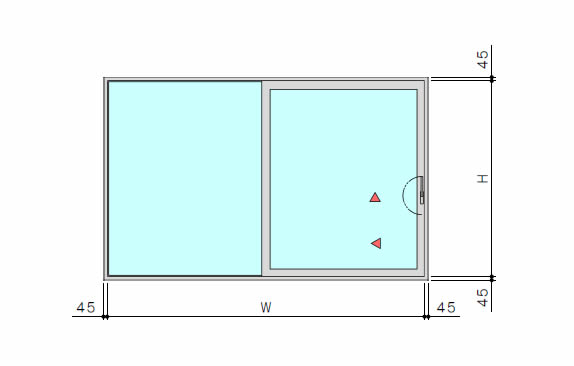 大型リフトスライドドア 片引き2